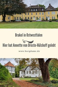 """Unweit von Brakel in Ostwestfalen gibt es viele Schlösser. Dazu gehören Schloss Bökerhof, Abbenburg, Schloss Gehrden und die Hinnenburg. Diese Schlösser gehören oder gehörten früher der Familie von Annette von Droste-Hülshoff, sie hat in diesen Schlössern gelebt. Lest mehr über die Schlösser der Familie von Droste-Hülshoff und über das Buch """"Die Judenbuche"""" in meinem Artikel. Castles, Life"""