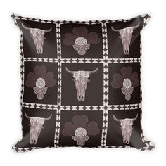 Excited to share the latest addition to my #etsy shop: #ChocolatePillow #BrownPillow #RusticPillow #SkullPillow #FlowerPillow #BohemianPillow #ChocolateThrowpillow #Indigenousdecor #ArtPillow #choclatedecor #houseandhome #homestyle #kmartmoms #boho #housewares #pillow http://etsy.me/2iOro7E