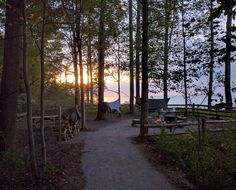Campsite at Lake Erie Bluffs - Campsite B - Lake Metroparks Camping In Ohio, Tent Camping, Campsite, Lake Erie Ohio, Shelter, Riverview Park, Park Trails, Camping Guide, Natural Wonders