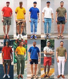 """미미킹 OFJ on Instagram: """"m&m's 🍒🍋❄️⛄️🥝 @theresqco"""" Summer Smart Casual, Daily Fashion, Men's Fashion, Korean Fashion Men, Style Guides, Muse, Fashion Ideas, Sneaker, How To Wear"""
