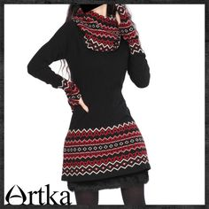 Artka Turtle Neck Long-Sleeve Slim Waist Cashmere Pullover LC11224D F2