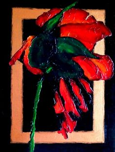 Withering Rose (2016) Edit  Acrylic painting by Olena Granovska
