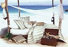 Coastal Stripe Quilt ~ King ~ Green ~ Taupe ~ White ~ Tropical Bedding ~ Coastal Bedding ~ Nautical Bedding ~ $99.00