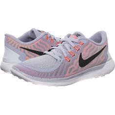 Nike Free 5.0 Women's Running Shoes, Gray ($70) ❤ liked on Polyvore featuring shoes, athletic shoes, nike, grey, gray shoes, waffle shoes, pointed shoes and grey shoes