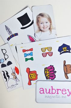 DIY to make a personalized magnet dress up toy... Love it!