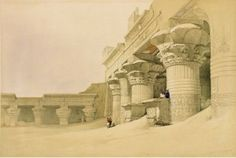 Roberts, David (b,1796)- Edfu Temple- Horus