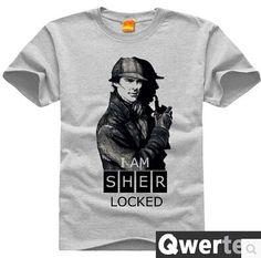 Free Shipping Men Cotton Sherlock TShirt Cute Gray England Sherlock Tees For Men & Women-in T-Shirts from Men's Clothing & Accessories on Aliexpress.com | Alibaba Group