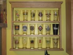 New pint glass display case - Home Brew Forums