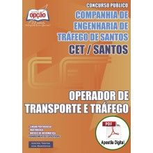 Apostila Digital Concurso CET Santos 2015 - Operador de Transporte e Tráfego