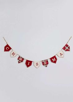 Christmas Fabric Bunting View 1