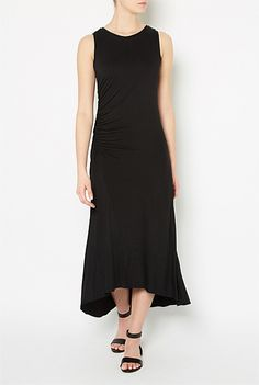 Witchery Gathered Side Dress $99.95 Dresses For Work, Clothes, Black, Women, Style, Fashion, Outfits, Swag, Moda