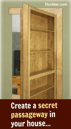 CREATE A SECRET PASSAGEWAY IN YOUR HOUSE --- Red Oak InvisiDoor Shelving Unit Kit - Rockler.com