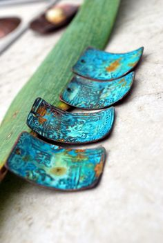Athena Ancient Patina Copper Charms  Rectangles  4 by ORRTEC