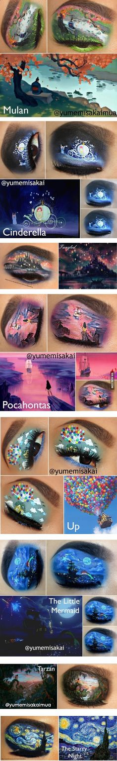Disney (and other) Eye Makeup Art wow just wow