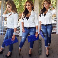 Casual fit.. Boyfriend Jean Pants and blouse: express shoes: Steve Madden Clutch: Vince Camuto  @ms_boss4u- #webstagram
