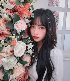 Do you like roses?🌺 🌺🌺🌺🌺🌺 Please continue with this account( Pretty Korean Girls, Cute Korean, Aesthetic People, Aesthetic Girl, Aesthetic Themes, Girls Be Like, Cute Girls, Instagram Girls, Instagram Posts