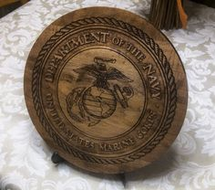 """11"""" United States Marines service seal on 3/4"""" maple   http://www.pinterest.com/pin/324751823104519409/"""