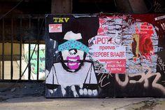 Street Art Belgrade - Face The Wall