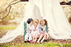 Blue Dandelion Photography.  Fabric and tree branch plus total kidlet cuteness.  love.
