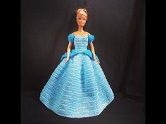 Vestiti Da Sposa Youtube.Tutorial N 3 Vestito Da Sposa Per Barbie All Uncinetto Crochet