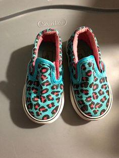 f803436be5442b Toddler Girl Leopard Slip On Vans Size 5.5  VANS  Athletic Leopard Slip On