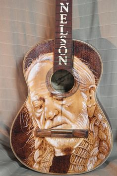 Guitar Painting, Guitar Art, Acoustic Guitar, Painting On Wood, Willie Nelson, Roy Orbison, Taylor Guitars, Wood Burning Art, Fender Guitars