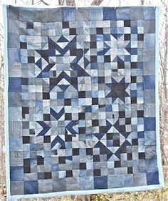 Denim quilt of out old jeans