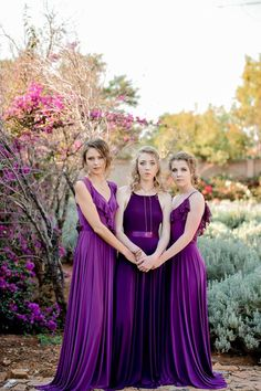 Gelique Lyla, Sarah & Nelly dresses in shades of plum. Fabric Combinations, Bridesmaid Dresses, Wedding Dresses, Body Types, Compliments, Plum, Shades, Couture, Elegant