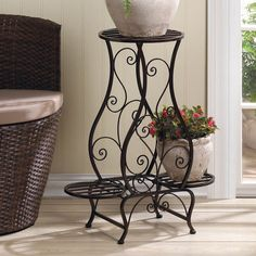 Found it at Wayfair - Black Cloister Etagere Plant Stand