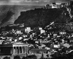Greece old photos, the Acropolis from Thision-1920