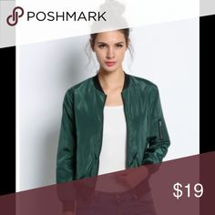 SAMPLE SALE! Green bomber jacket Take a break from olive green bomber jackets and try this true green one. You won't regret it! Boutique Jackets & Coats