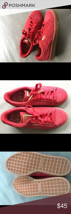 57e1a35bd9 Red Puma suede shoes Red puma suede shoes, never worn Puma Shoes Sneakers