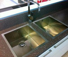 Granite inset sink