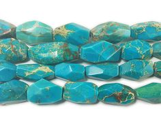 Very high quality imperial jasper faceted nugget beads. The sizes of each bead greatly vary. Approximately 15 - 20 beads per 16 inch strand.