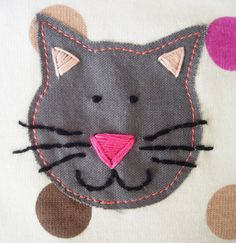 kitty applique for t-shirt