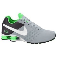 mens nike shox deliver red green