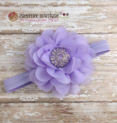 Lavender Petal Flower Headband, Newborn Headband, Baby Headband, Infant Headband, Photo Prop, Baby & Toddler, Flower Girl, Weddings - pinned by pin4etsy.com