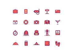 Coming to you from the latest work of Perdana Kurniawan, Free Summer Holiday Icons! This icon pack contains 20 icons in SVG and PNG format Blog Design Inspiration, Holiday Icon, Custom Icons, Free Summer, Graphic Design Services, Free Design, Happy Design, Icon Set, Textile Design
