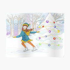 """Skating fun"" Greeting Card by lynncostelloe Kraft Envelopes, Iphone Wallet, Card Sizes, Sell Your Art, Skating, Christmas Gifts, Greeting Cards, Pretty, Fun"