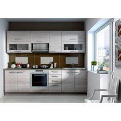 Kuchyňská linka SONOMA - 180 cm Bed Design, Kitchen Cabinets, Modern, Home Decor, Wings, See Through, Lowes Kitchen Cabinets, Kitchens, Light Oak