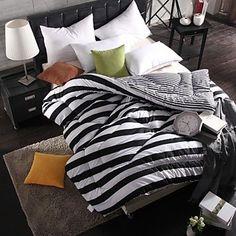 shuian® colcha edredón de invierno a mantener edredones espesantes cálidos con blanco y negro - EUR € 36.35