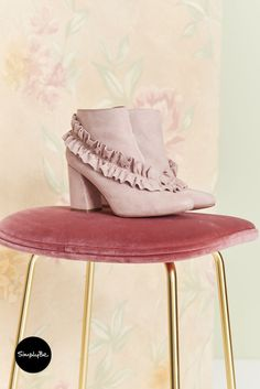 Make a statement in these stunning soft ankle boots from Heavenly Soles with wrap around ruffle detail, block heel and inside zip. Wide Fit Shoes, Stand Tall, Heavenly, Block Heels, Ankle Boots, Fancy, Zip, Detail, Random