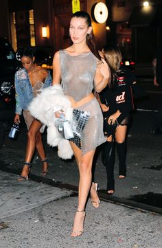 Bella Hadid  arriving at the Up & Down Club in New York City for her 20th Birthday celebration,