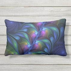 Colorful Luminous Abstract Blue Pink Green Fractal Lumbar Pillow   #drink #cooking #receipe camping ideas, camping diy, camping gadgets, back to school, aesthetic wallpaper, y2k fashion Camping Gifts, Diy Camping, Camping Gadgets, Pink And Green, Blue, Lumbar Pillow, Aesthetic Wallpapers, Fractals, Pillows