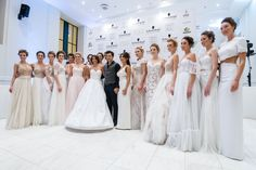 Your Haute Couture Bridal from the awarded designer STYΛIANOS in Kolonaki, Kanari 23 | T 210 3388244 | Greek talented designer Stylianos surrounded by his models, wonderfull tv hostess Evangelia Tsiorlida and his beloved client -and one of his muses- Mrs. Jenny S. | for more visit: https://www.facebook.com/stylianosbridalandmore                                                          STYΛIANOS BRIDAL 2015  © All rights reserved