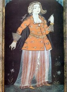 15th century Turkish Women's Clothing (Kajira added info from re-pin:  cannot confirm date-think this is actually a mid 1500's painting)