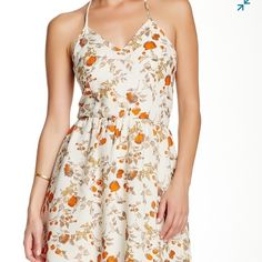 """Collective Concepts Floral Dress Brand New Details: - V-neck - Spaghetti straps - Side zip closure - Strappy t-back detail - Allover print - Lined - Approx. 36"""" length Collective Concepts Dresses"""