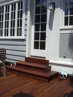 Wrap around ipe deck steps