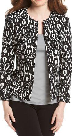 Love the print on this blazer.