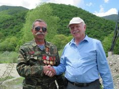 David Stanley with a highly decorated defender of the Republic of Nagorno Karabakh. David Stanley, The Republic